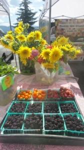 Berries and sunflowers!
